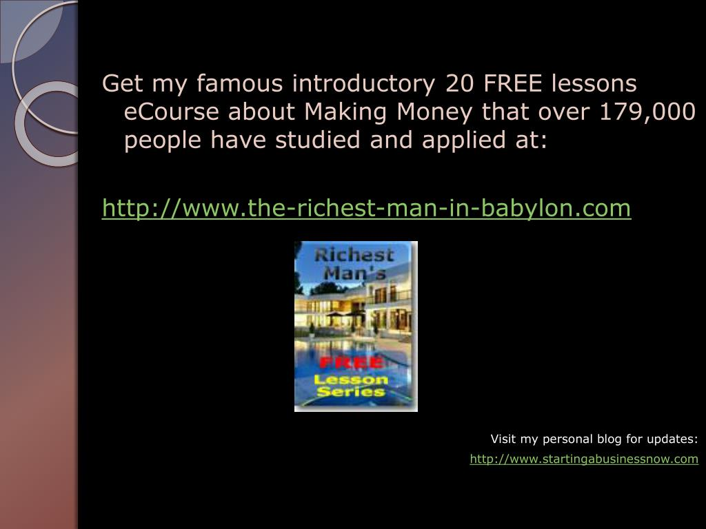 Get my famous introductory 20 FREE lessons