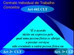 contrato individual de trabalho conceitos