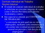 contrato individual de trabalho no es b sicas