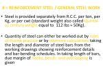 8 reinforcement steel general steel work