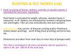 roofing rcc works ctd