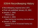 iosha recordkeeping history