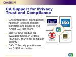 ca support for privacy trust and compliance