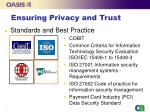 ensuring privacy and trust