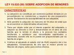 ley 19 620 99 sobre adopcion de menores