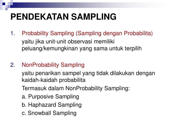 Pendekatan sampling