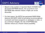 gsfc advisory