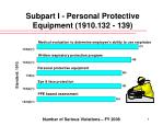 subpart i personal protective equipment 1910 132 139