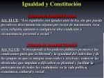 igualdad y constituci n