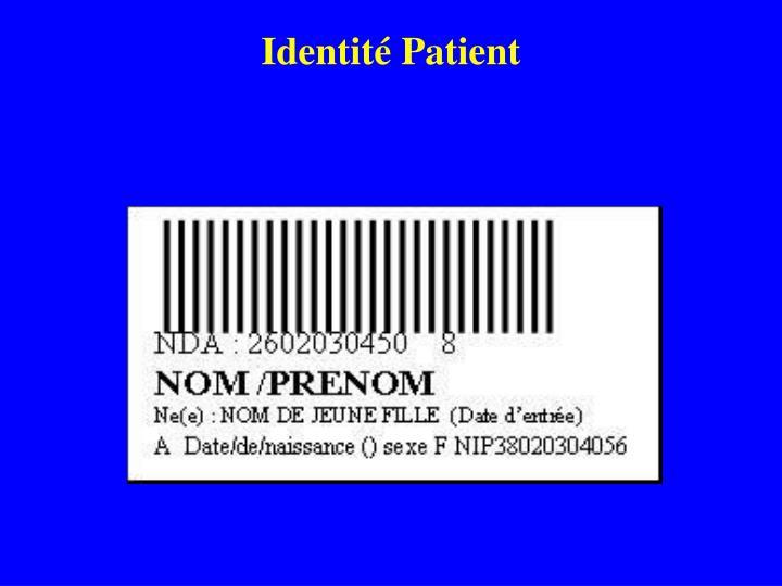 Identité Patient