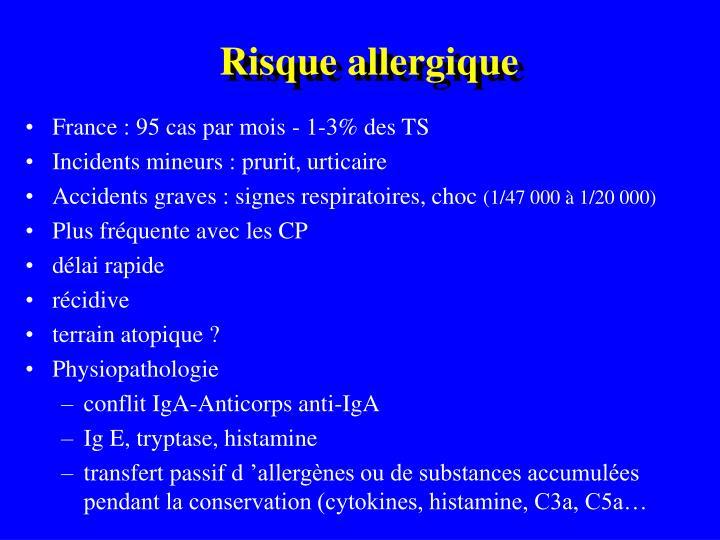 Risque allergique