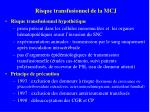 risque transfusionnel de la mcj