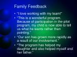 family feedback1