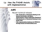 up how the fasab assists with implementation6