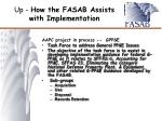 up how the fasab assists with implementation7