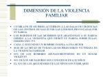dimensi n de la violencia familiar