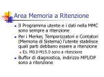 area memoria a ritenzione