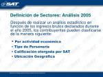 definici n de sectores an lisis 2005