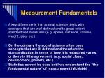 measurement fundamentals