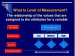 what is level of measurement