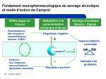 fondement neuropharmacologique du sevrage alcoolique et mode d action de campral1