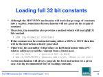 loading full 32 bit constants