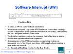 software interrupt swi