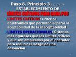 paso 8 principio 3 f 10 178 179 establecimiento de l mites cr ticos para cada pcc
