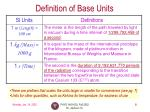 definition of base units