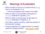 meanings of acceleration
