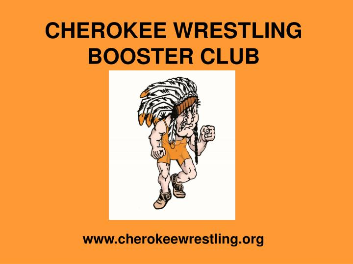 cherokee wrestling booster club n.