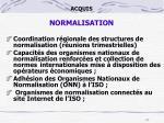 acquis normalisation