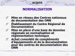 acquis normalisation1