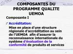 composantes du programme qualite uemoa1