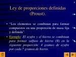 ley de proporciones definidas proust