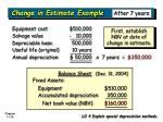 change in estimate example1