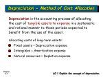 depreciation method of cost allocation