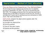 depreciation method of cost allocation3