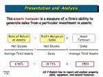 presentation and analysis6