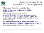 caracter sticas de la adopci n tic en argentina