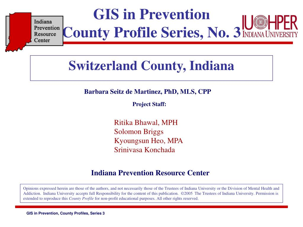 GIS in Prevention