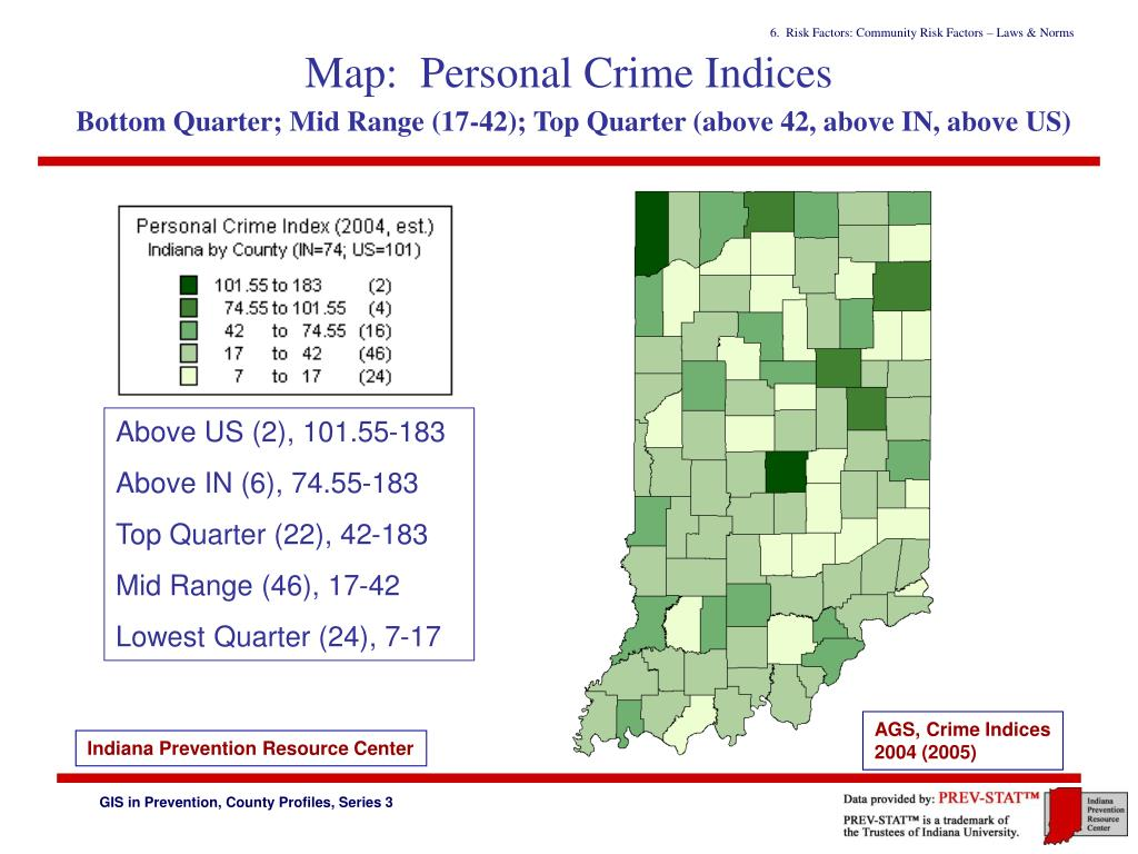 Map:  Personal Crime Indices