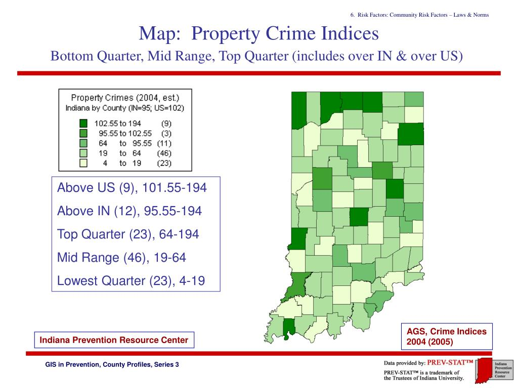 Map:  Property Crime Indices