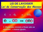lei de lavoisier lei da conserva o das massas