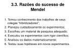 3 3 raz es do sucesso de mendel
