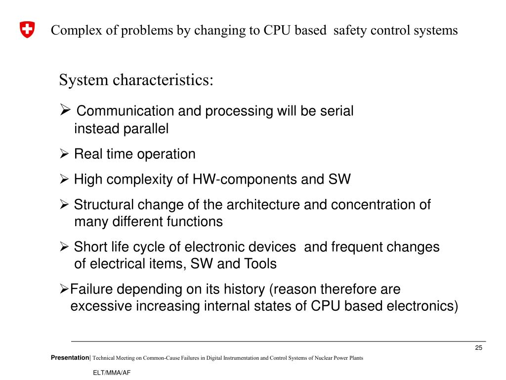 Complex of problems by changing to CPU based  safety control systems