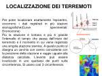 localizzazione dei terremoti