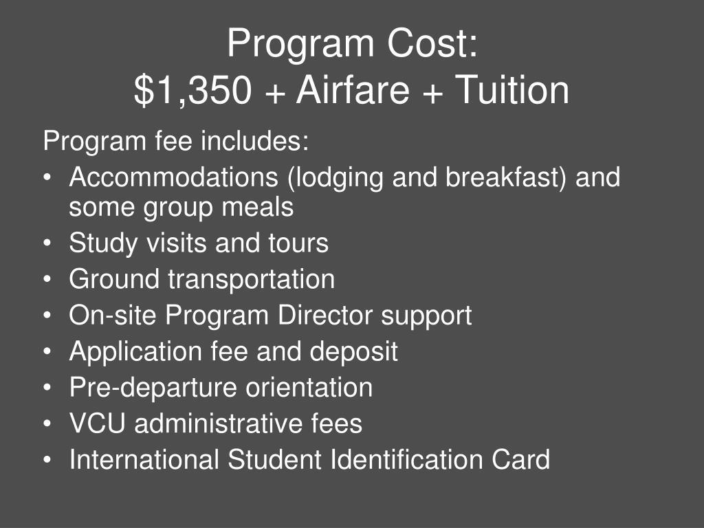 Program Cost: