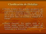 clasificaci n de dislalias