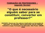 forma o de professores segundo saviani
